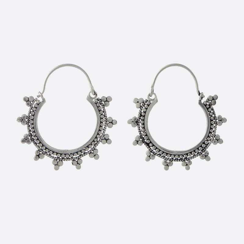Kochi Hoop Earrings- Silver
