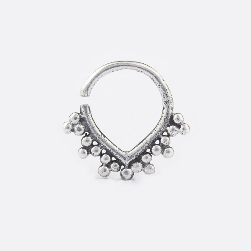Lucia Septum Ring- Sterling Silver