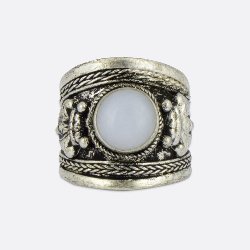 Moonstone Amulet Ring