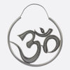 Om Hoop Earrings- Silver