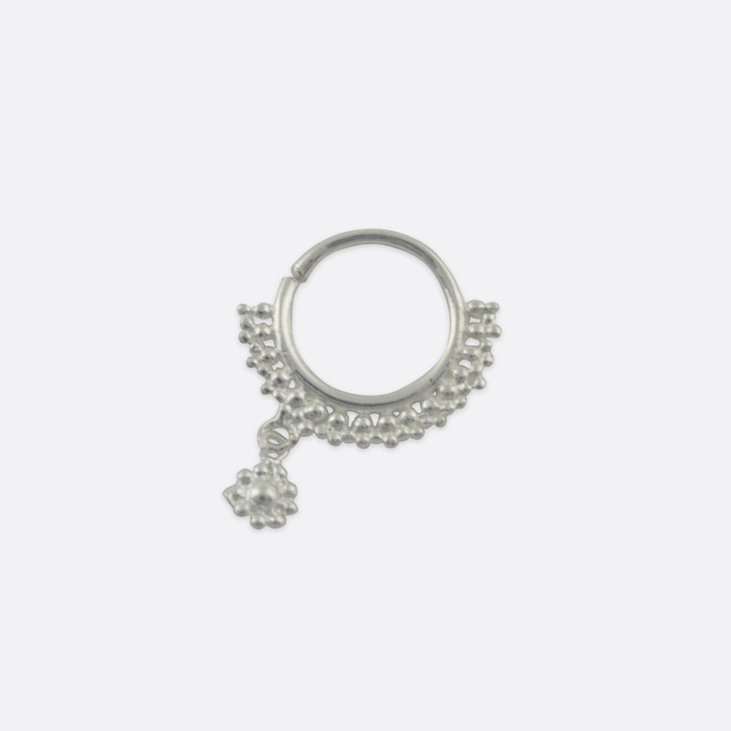 Paloma Charm Nose Ring- Sterling Silver