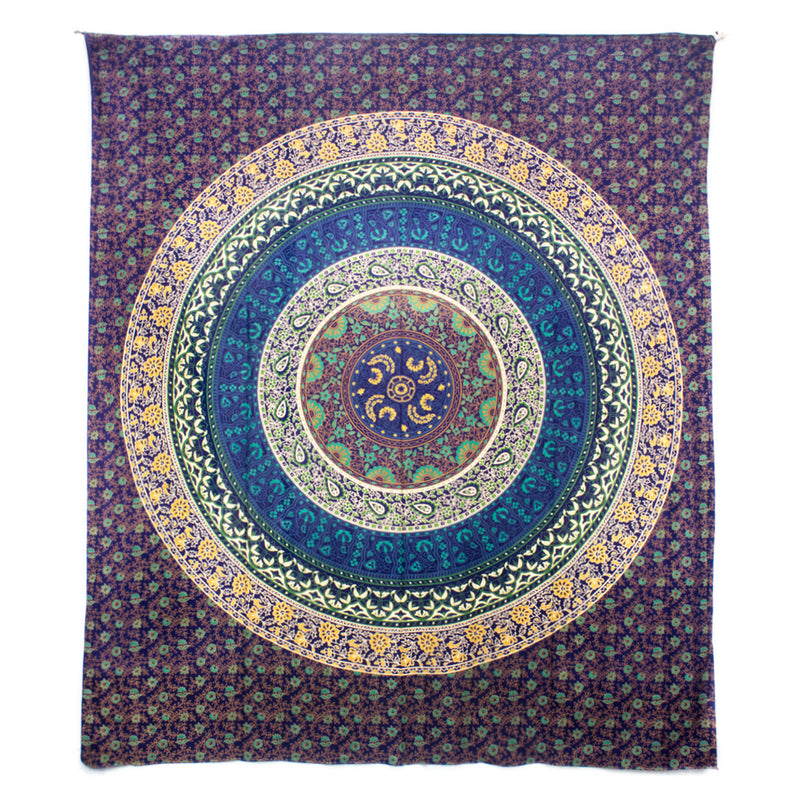 Patchwork Mandala Throw- Soft Purple