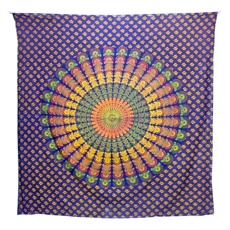 Peacock Mandala Throw