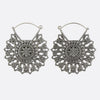 Sacred Mandala Earrings- Silver