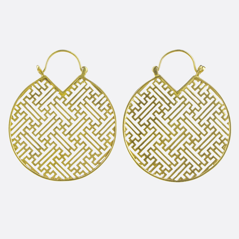 Sayagata Earrings- Gold