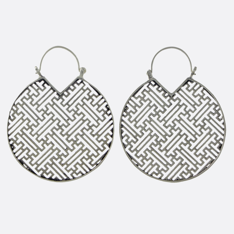 Sayagata Earrings- Silver