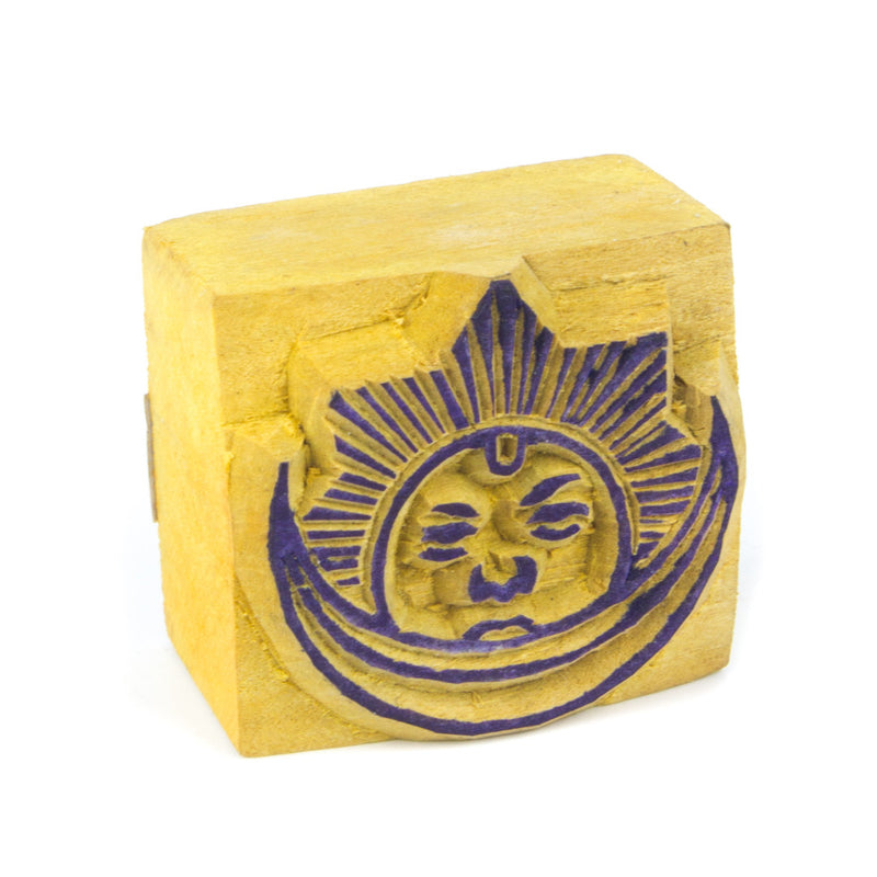 Sun and Moon Wooden Stamp