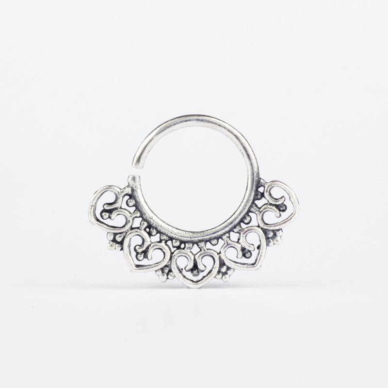 Vasara Septum Ring- Sterling Silver