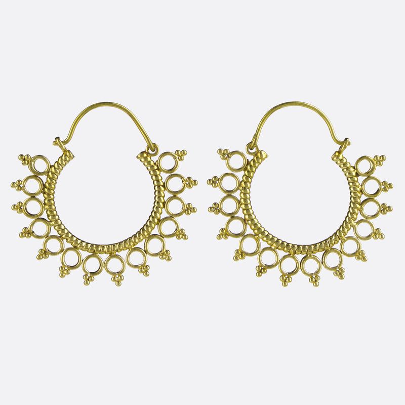 Vashti Hoop Earrings- Gold