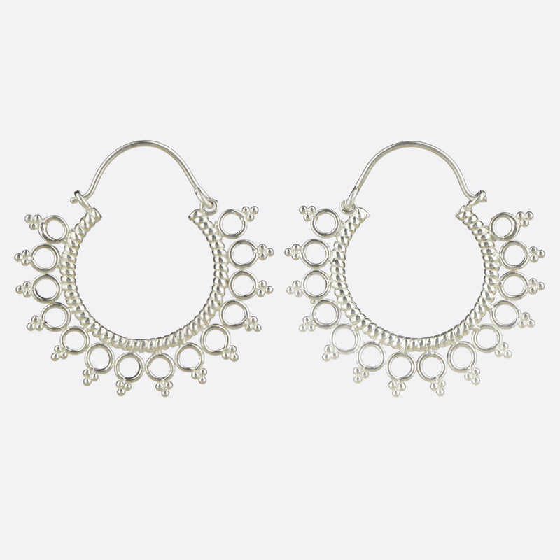 Vashti Hoop Earrings- Silver
