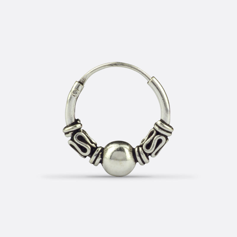 Xena Balinese Earring/Nose Ring- Sterling Silver