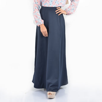 BMG35148 - HANIYA FLARED A LINE SKIRT - DARK BLUE