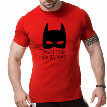 New Mens T Shirts fashion batman printing Cotton O-neck