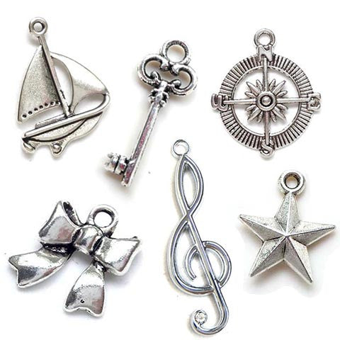 Charms & Pendants (Antique silver)