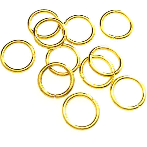 Jump rings (Gold plated) - 10mm