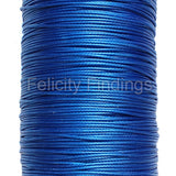 Korean Waxed Cotton Cord - 1mm Blue