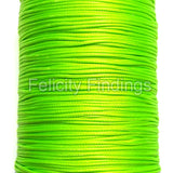 Korean Waxed Cotton Cord - 1mm Bright green