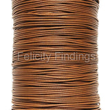 Korean Waxed Cotton Cord - 1mm Caramel