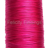 Korean Waxed Cotton Cord - 1mm Cerise