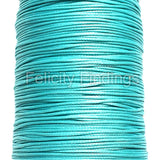 Korean Waxed Cotton Cord - 1mm Cyan