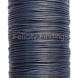Korean Waxed Cotton Cord - 1mm Grey