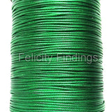 Korean Waxed Cotton Cord - 1mm Green