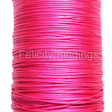 Korean Waxed Cotton Cord - 1mm Hot pink