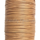 Korean Waxed Cotton Cord - 1mm Light brown