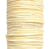 Korean Waxed Cotton Cord - 1mm Milk