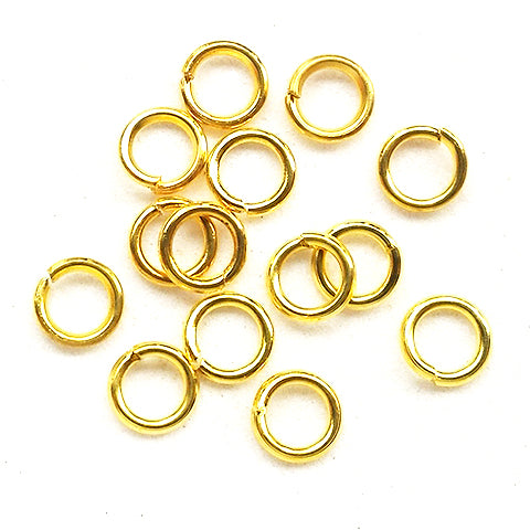 Jump rings (Gold plated) - 4.5mm