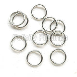 Jump rings (Platina plated) - 6mm