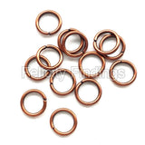 Jump rings (Red copper) - 6mm