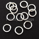 Jump rings (Silver plated) - 6mm