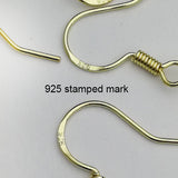925 sterling silver gold plated French ear wire