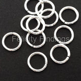 Jump rings (Silver plated) - 8mm