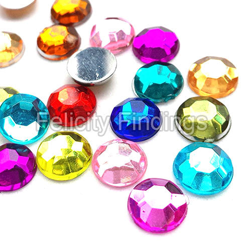 Acrylic rhinestones flat backs