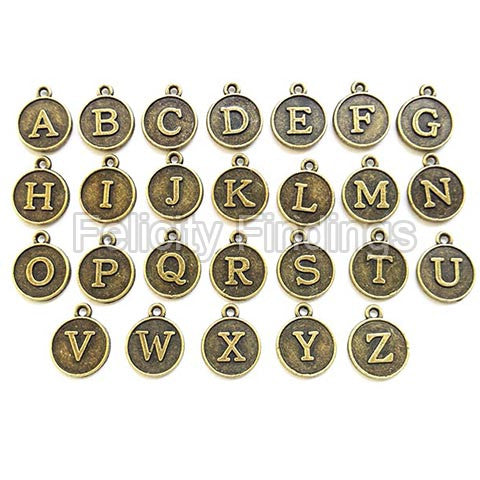 Alphabet charms 007 (Bronze)
