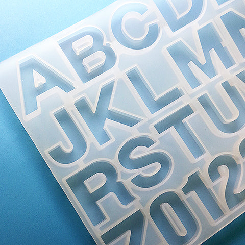 Silicone mold Alphabet & Numbers