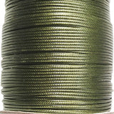 Korean Waxed Cotton Cord - 1.5mm Army Green