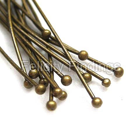 Ball head pins (Bronze) - 35mm