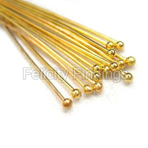 Ball head pins (Gold plated) - 35mm