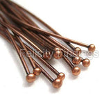 Ball head pins (Red copper) - 35mm