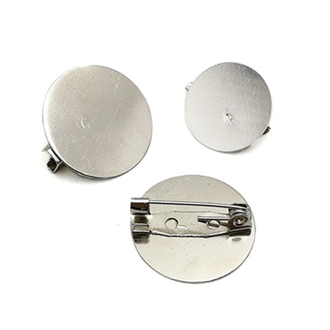 Brooch pin with flat pad (Platina plated)