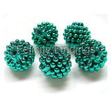 Bumpy plastic beads - Green