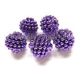 Bumpy plastic beads - Purple
