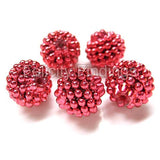 Bumpy plastic beads - Red