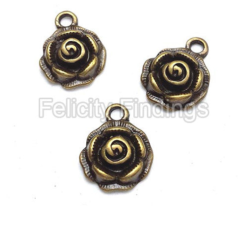 Charms (Bronze) - CH435 Rose