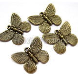 Bronze charm - CH439 Butterfly