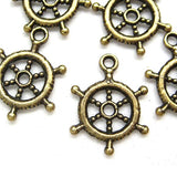 Charms (Bronze) - CH455 Ship wheel