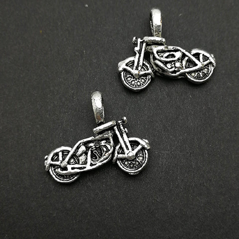 Charms (Antique Silver) -  CH459S Motorbike
